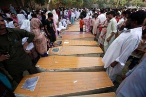 Over 80 people died in the suicide blasts Sunday.