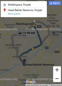 route map to Rana Park