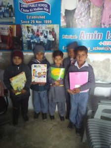 children with new school books