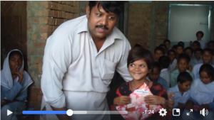 video scene of Amin and orphan girl
